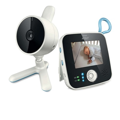 A Philips SCD610/00 digitális videofunkcióval rendelkező baba monitorral pihenés közben is látjuk, hogy gyermekünkkel mi történik a szobában